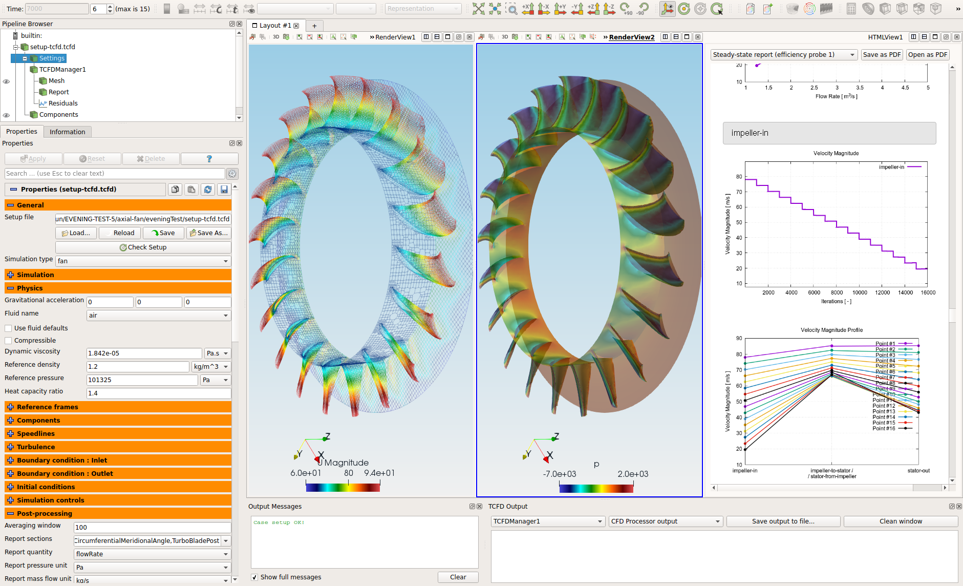 TCFD - Turbomachinery CFD Axial Fan interface
